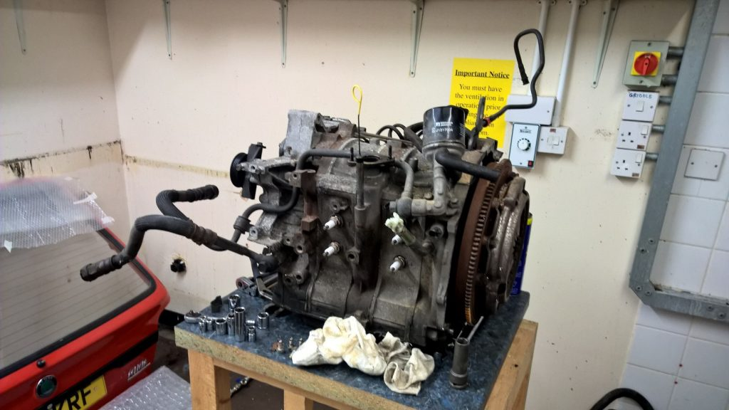 13B Engine stripped to core