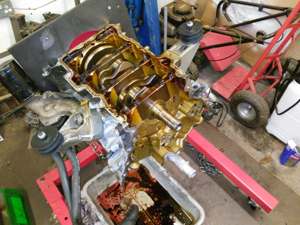 S-Type V6 Oil Pump Removed